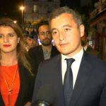 Sécurité: Schiappa et Darmanin auprès des forces de l'ordre porte de la Chapelle à Paris