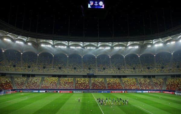 L'Atletico Madrid s'entraîne à Bucarest, en Roumanie, lundi.