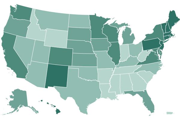 Où les États signalent des vaccins administrés